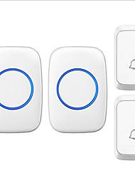 Недорогие -черный белый дверной звонок беспроводной dc два-два дверной звонок музыка дин дон не визуальный дверной звонок водонепроницаемый abs + pc