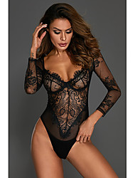 62a276f77 Women s Super Sexy Lace Lingerie   Teddy   Bodysuits Nightwear - Lace    Print Embroidered   Deep V