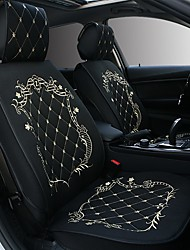 cheap -ODEER Car Seat Cushions Seat Cushions Black / Pink / Black Gold / Black / White Textile Common For universal All years All Models