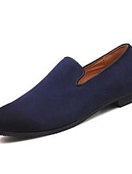 Недорогие -Муж. Комфортная обувь Полиуретан Весна Мокасины и Свитер Серый / Коричневый / Синий