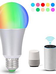 Недорогие -KWB 1шт 7 W 700 lm E26 / E27 Умная LED лампа A19 22 Светодиодные бусины SMD 5730 Smart / Контроль APP / синхронизация RGBW 100-240 V