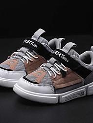 baratos -Para Meninos Sapatos Sintéticos Primavera & Outono Conforto Tênis Caminhada Cadarço para Infantil / Adolescente Preto / Cinzento / Azul