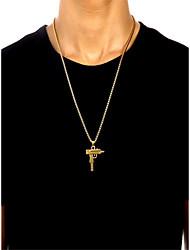 Недорогие -Муж. Ожерелья с подвесками Стильные Хром Золотой Серебряный 60 cm Ожерелье Бижутерия 1шт Назначение Повседневные