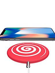 Недорогие -Беспроводное зарядное устройство Зарядное устройство USB USB Беспроводное зарядное устройство / Qi 1 USB порт 1.1 A DC 9V / DC 5V для iPhone X / iPhone 8 Pluss / iPhone 8
