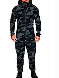 Недорогие -Муж. Классический Толстовка / Activewear Set - камуфляж