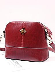 cheap -Women's Bags PU(Polyurethane) Shoulder Bag Animal Black / Red / Brown
