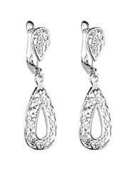 hesapli -1 çift Kadın's Küpe - Tatlı sevimli Stil Mücevher Gümüş Uyumluluk Randevu Cadde