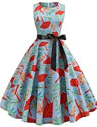 Недорогие -платье для женщин, выходящее на улицу / работа до колен, стройное, красное, зеленое s m l xl