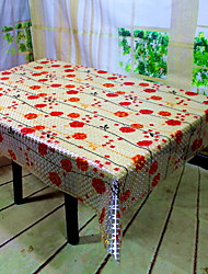 cheap -Country PVC(PolyVinyl Chloride) Square Table Cloth Geometric Table Decorations 1 pcs