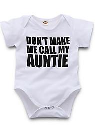 お買い得  -赤ちゃん 女の子 ストリートファッション 日常 プリント 半袖 ポリエステル ボディスーツ ホワイト