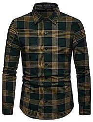 Недорогие -Муж. Рубашка Классический Полоски / Контрастных цветов
