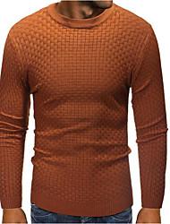 ราคาถูก -สำหรับผู้ชาย ทุกวัน สีพื้น แขนยาว ปกติ ผ้าคลุมหลัง สีดำ / อูฐ L / XL / XXL