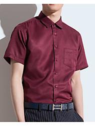 billige -kvinners asiatisk størrelse slank skjorte - solid farget skjorte krage