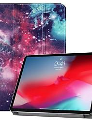 Недорогие -Кейс для Назначение Apple iPad Mini 5 / iPad New Air (2019) / iPad Mini 4 Защита от удара / Флип / Ультратонкий Чехол Цвет неба Твердый Кожа PU / iPad Pro 10.5