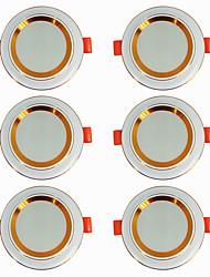 billige -6stk 5 W 360 lm 20 LED Perler Let Instalation Forsænket LED nedlys Varm hvid Kold hvid 220-240 V Hjem / kontor Stue / spisestue