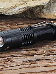 Недорогие -Светодиодные фонари 1200 lm Светодиодная лампа LED 1 излучатели 5 Режим освещения с батареей и зарядным устройством Фокусировка Ударопрочный ударный корпус / Алюминиевый сплав