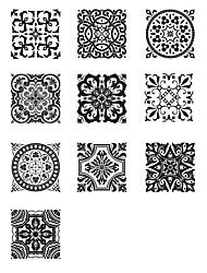 Недорогие -Декоративные наклейки на стены - 3D наклейки Абстракция / Арабеска Ванная комната / Кухня