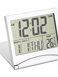 Недорогие -цифровой жк-экран путешествия будильники настольный стол термометр таймер календарь