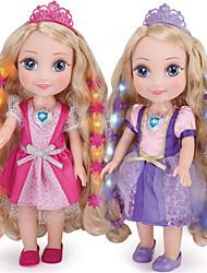 baratos -Boneca de moda Bebês Meninas 14 polegada Silicone - Smart realista Crianças / Adolescente de Criança Unisexo Brinquedos Dom