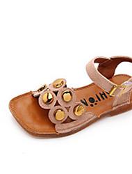 tanie -Dla dziewczynek Obuwie Sztuczna skóra Lato Wygoda Sandały na Dzieci / Brzdąc Czarny / Beżowy / Różowy