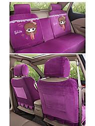 cheap -Car Seat Covers Headrest & Waist Cushion Kits Red / Blue / Pink Wistiti Cartoon For GM