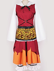baratos -Inspirado por Projecto de Touhou Fantasias Anime Fantasias de Cosplay Ternos de Cosplay Padrão Vestido / Fita de Cabelo / Ocasiões Especiais Para Homens / Mulheres