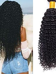 economico -6 pacchi Brasiliano Kinky Curly capelli naturali Remy Regali Accessori per capelli Ciocche a onde capelli veri 8-28 pollice Colore Naturale Tessiture capelli umani Design Classico Migliore qualità