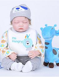 cheap -FeelWind Reborn Doll Baby Boy 22 inch Silicone Vinyl - lifelike Handmade Cute Kids / Teen Non-toxic Kid's Unisex Toy Gift