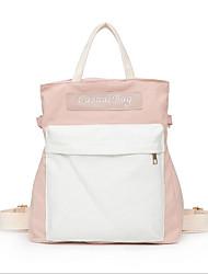 저렴한 -여성용 가방 캔버스 배낭 지퍼 용 일상 봄 화이트 / 블랙 / 블러슁 핑크