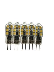 Недорогие -5 шт. 3 W 200-300 lm G4 / G8 Двухштырьковые LED лампы T 12 Светодиодные бусины SMD 2835 Милый 12 V