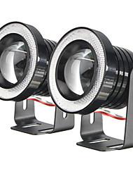 Недорогие -2x автомобильный внедорожник ангельский глазок синий ореол кольца светодиодный объектив проектора противотуманные фары дальнего света