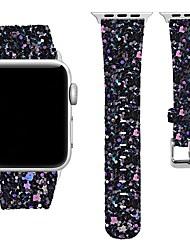 Недорогие -Настоящая кожа Ремешок для часов Ремень для Apple Watch Series 4/3/2/1 Черный / Белый / Синий 20cm / 7.9 дюймы 2.3cm / 0.91 дюймы