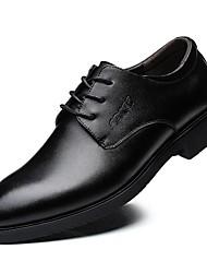 povoljno -Muškarci Udobne cipele Koža Proljeće & Jesen Oksfordice Crn