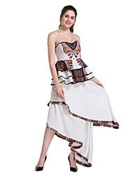 رخيصةأون -فستان نسائي ثوب ضيق أساسي غير متماثل نحيل بدون حمالات