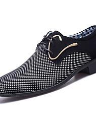levne -Pánské Komfortní boty PU Jaro & podzim Oxfordské Bílá / Modrá