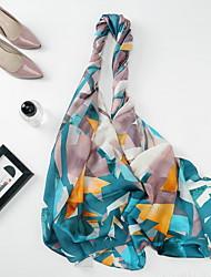Недорогие -Жен. Прямоугольный платок - С кисточками Геометрический принт
