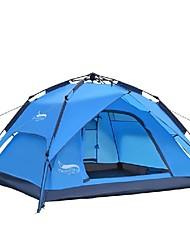Недорогие -DesertFox® 4 человека Автоматический тент На открытом воздухе Легкость С защитой от ветра Дожденепроницаемый Двухслойные зонты Автоматический Палатка >3000 mm для