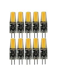 Недорогие -10 шт. 3 W 200-300 lm G4 Двухштырьковые LED лампы T 1 Светодиодные бусины COB Милый Тёплый белый / Холодный белый 12 V