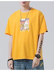 baratos -Homens Camiseta Moda de Rua Geométrica