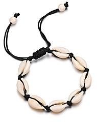 hesapli -Kadın's Tek Dizi El Yapımı Bağlantı Bilezik Aşk Umut Kabuk moda Bilezikler Mücevher Beyaz / Siyah Uyumluluk Parti Günlük