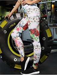 voordelige -Dames Sportief Legging - Bloemen Medium Taille