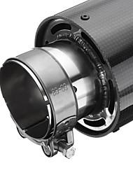 Недорогие -1 шт. 63 mm Советы по выхлопной трубе выпрямленный Нержавеющая сталь Глушители выхлопа Назначение Универсальный Все модели Все года