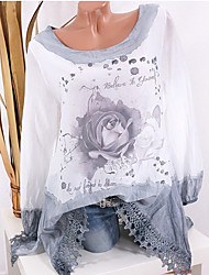 Недорогие -женская рубашка азиатского размера - цветочная шея