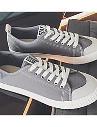 Χαμηλού Κόστους -Ανδρικά Παπούτσια άνεσης Πανί Άνοιξη & Χειμώνας Αθλητικά Παπούτσια Μαύρο / Γκρίζο / Χακί