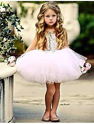 Χαμηλού Κόστους -Μωρό Κοριτσίστικα Βασικό Καθημερινά Μονόχρωμο Αμάνικο Κανονικό Κανονικό Βαμβάκι / Πολυεστέρας Φόρεμα Μαύρο