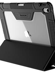 Недорогие -Кейс для Назначение Apple iPad Pro 12.9'' Защита от удара / со стендом / Флип Чехол Однотонный Твердый Кожа PU