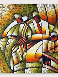 baratos -Pintura a Óleo Pintados à mão - Abstrato Modern Incluir moldura interna