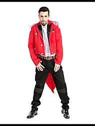 זול -המופע הגדול תלבושות בגדי ריקוד גברים תחפושות משחק של דמויות מסרטים אדום עליון מכנסיים האלווין (ליל כל הקדושים) קרנבל נשף מסכות אלאסטייןו polyster