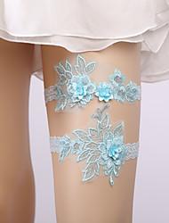 ราคาถูก -ลูกไม้ รูปแบบดอกไม้ / ความรัก Wedding Garter กับ เข็มกลัด / ดอกไม้ สายรัด งานแต่งงาน / ปาร์ตี้