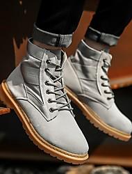 povoljno -Muškarci Udobne cipele Sintetika Jesen zima Čizme Čizme do pola lista Crn / Sive boje / Deva